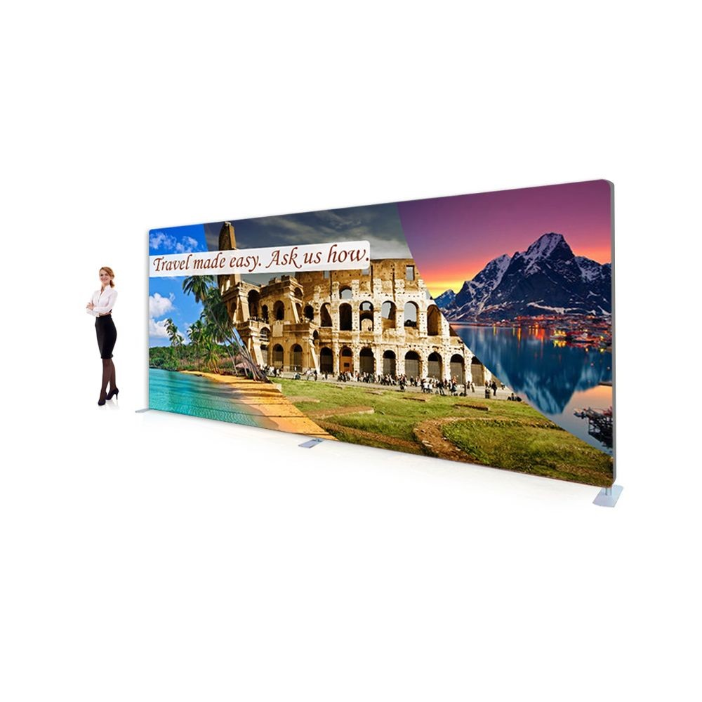 15 Foot Premium Tension Fabric Displays with Footed Straight Shape