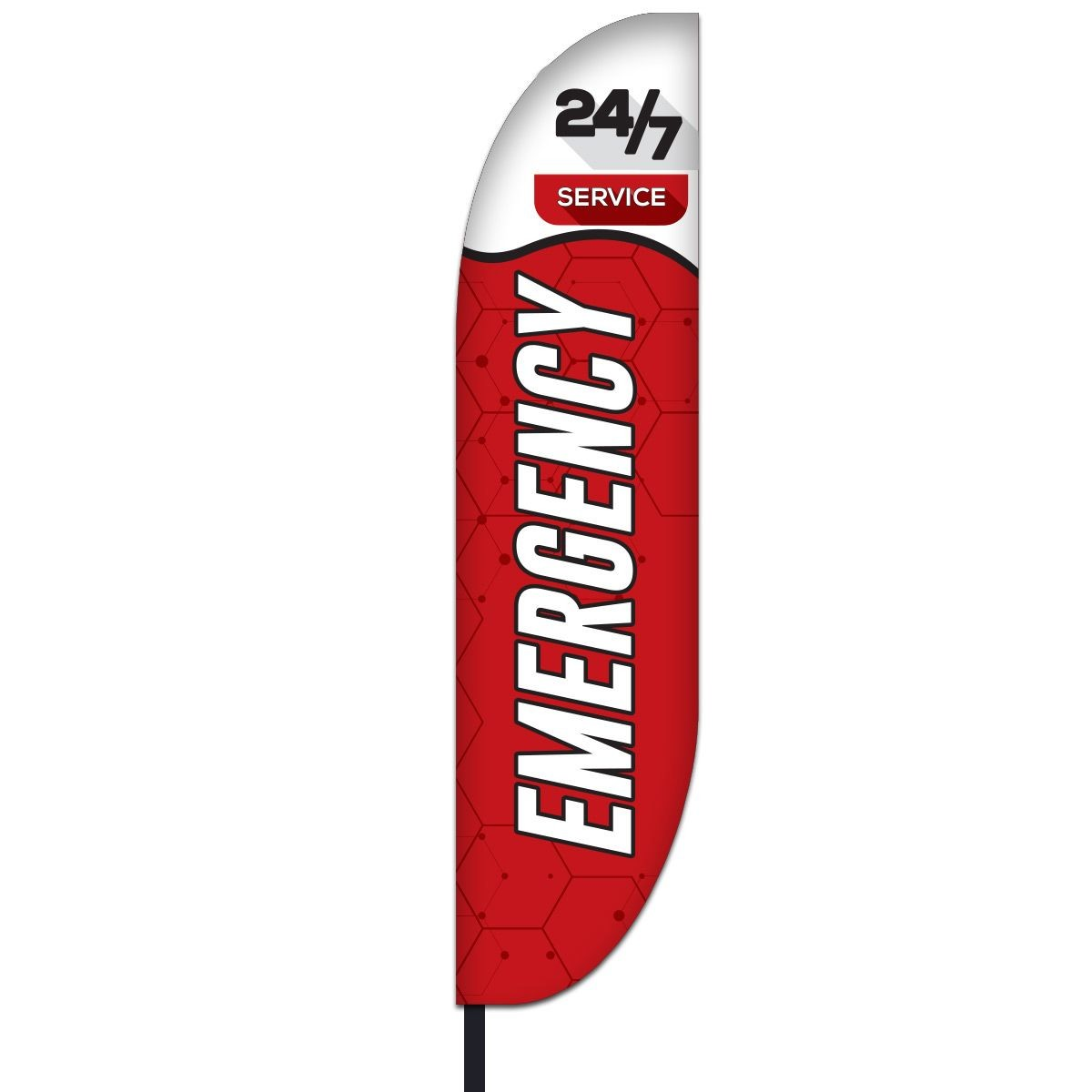 Medical Emergency Feather Flag Kit 01 - Red
