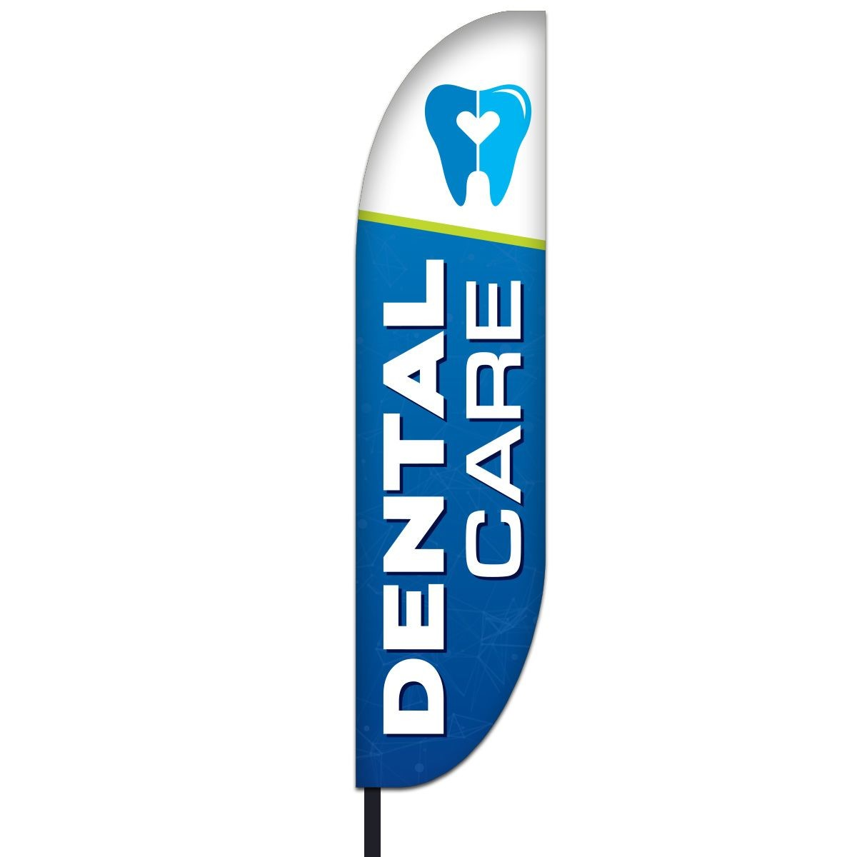 Dental Care Feather Flag Kit Design 01