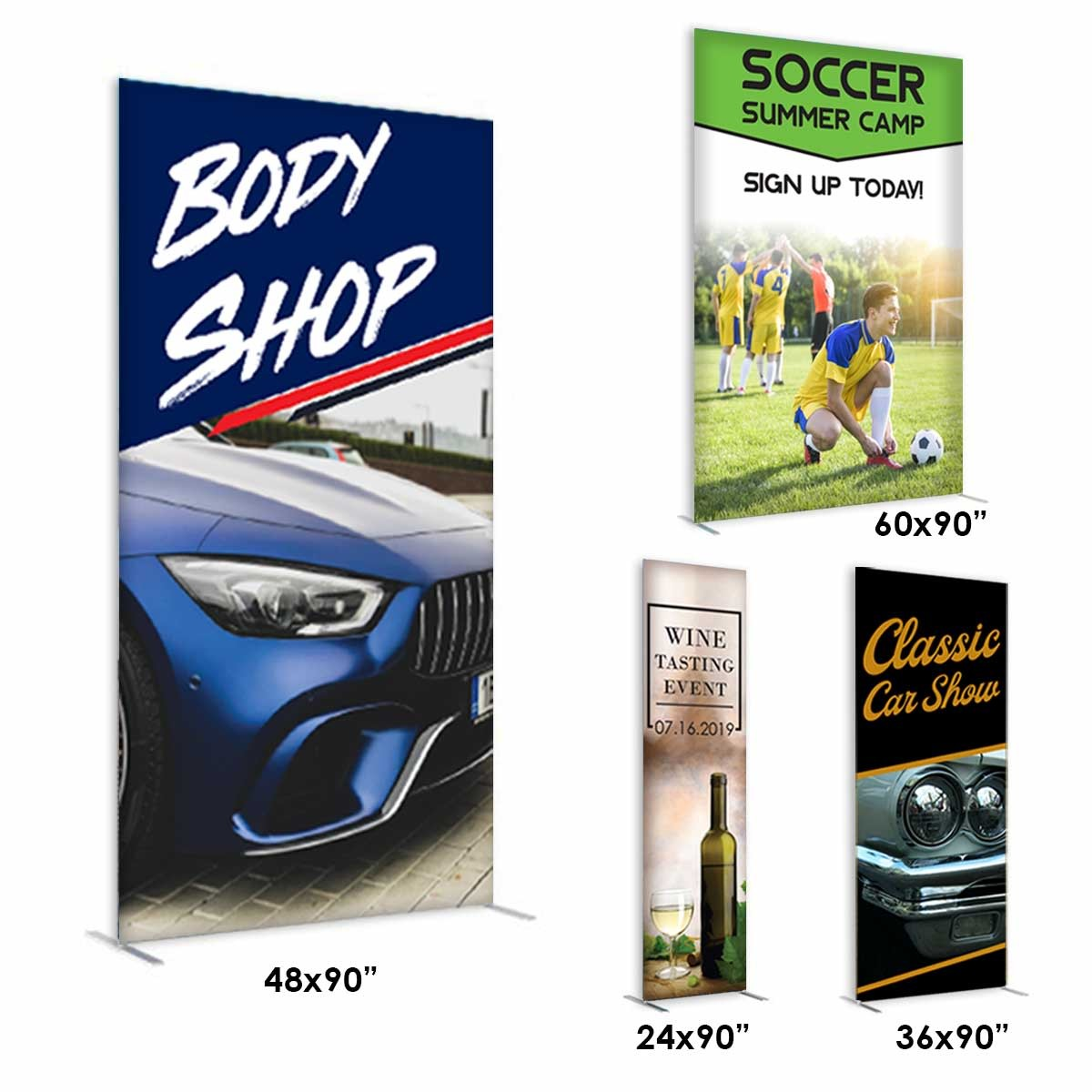 Economy Fabric Banner Stands