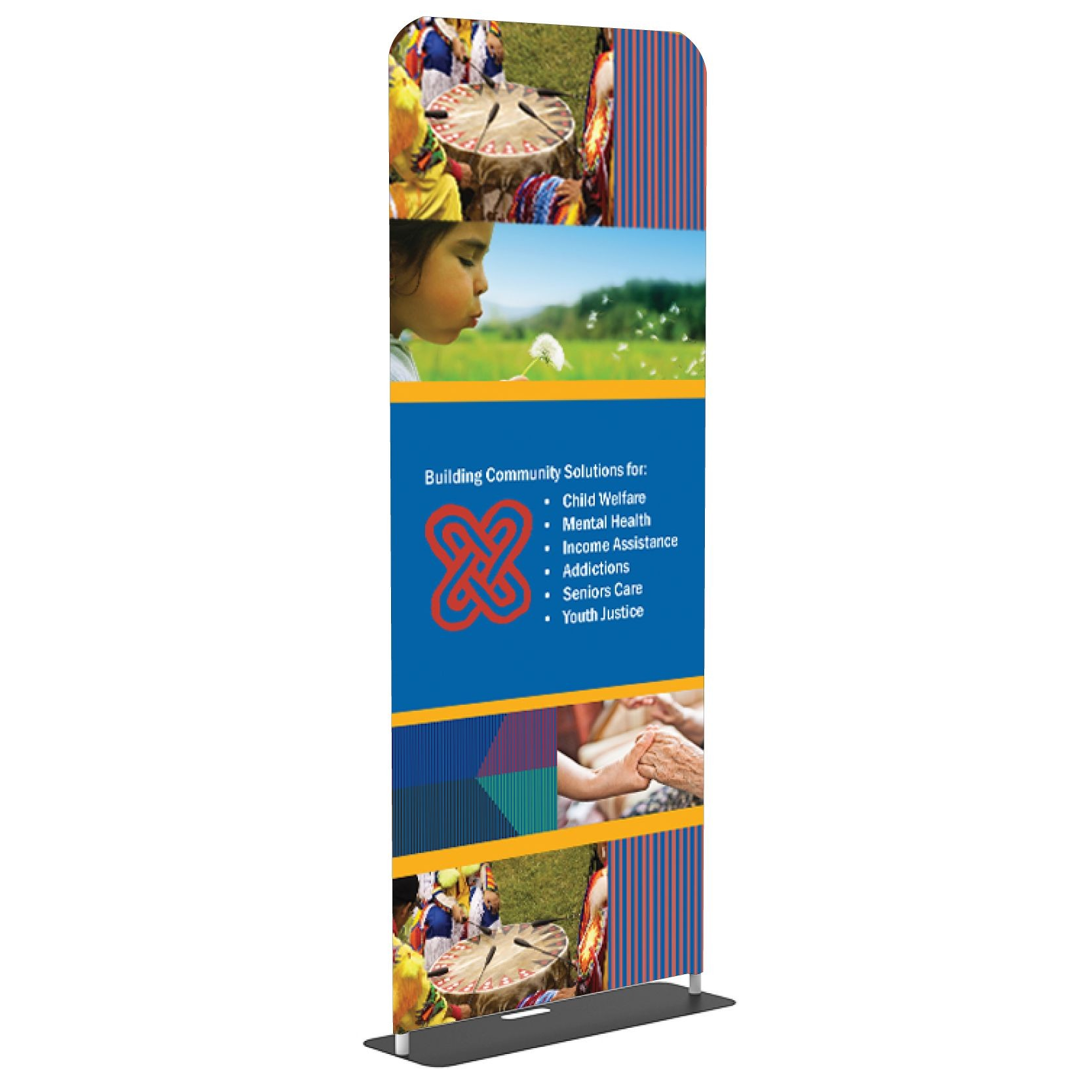 View of Fabric Banner Stands