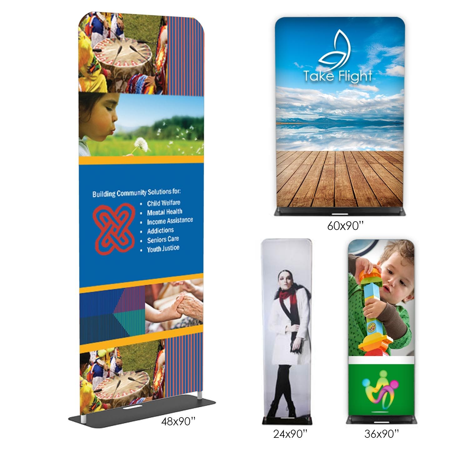 Double Sided Fabric Banner Stands