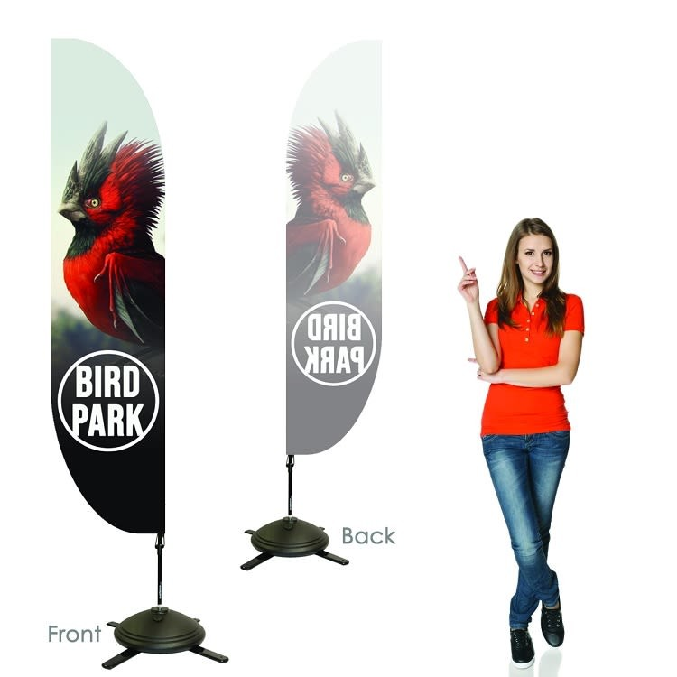 Single Sided Feather Banners with Left Facing Graphics