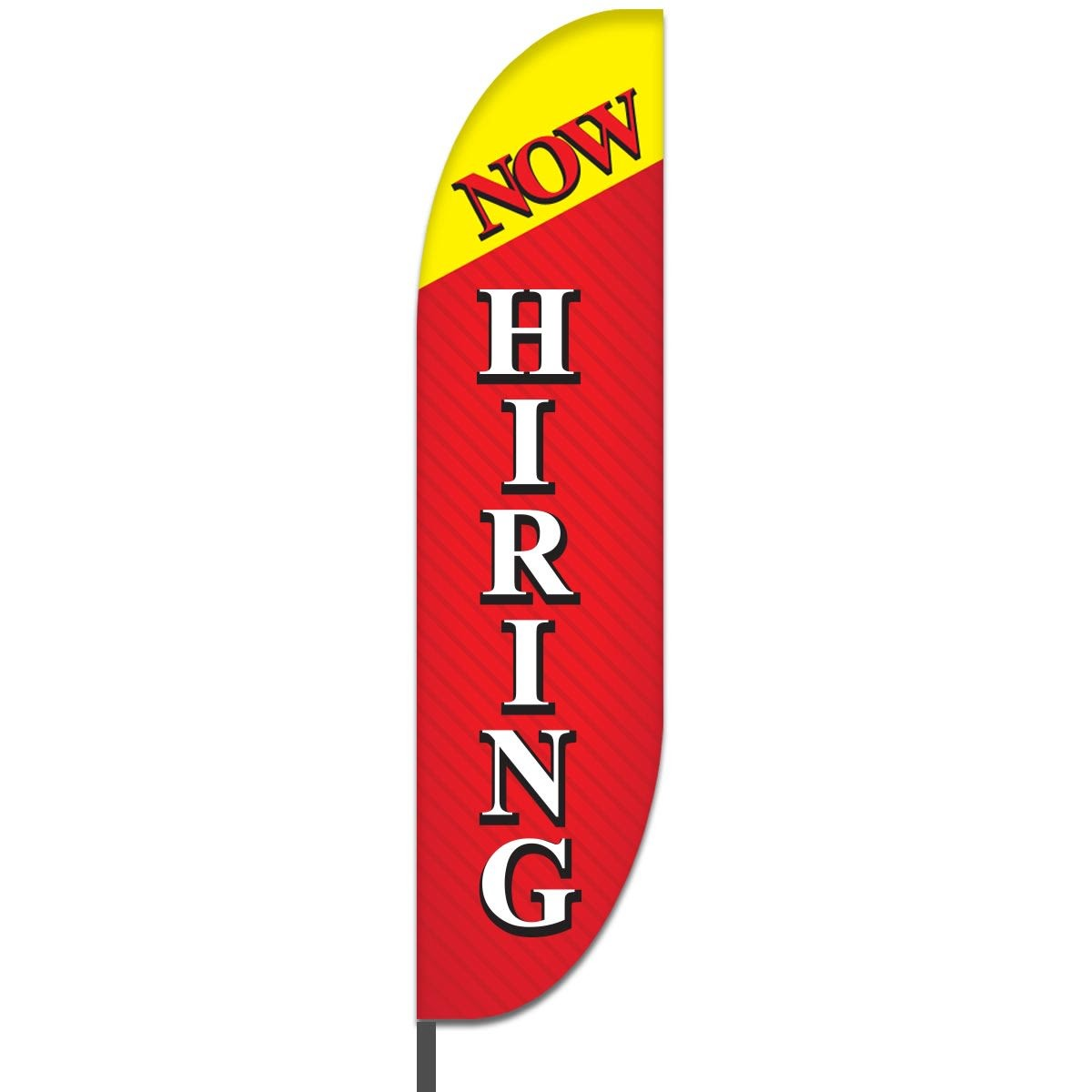 Now Hiring Feather Flags Design 05