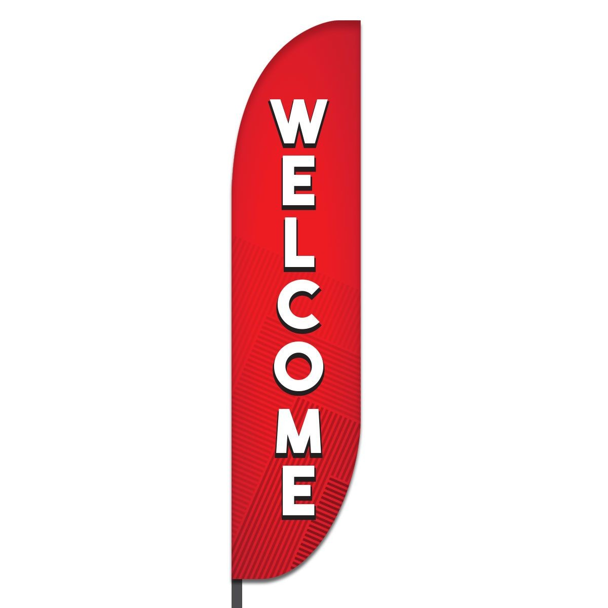 Welcome Feather Flag Design 02