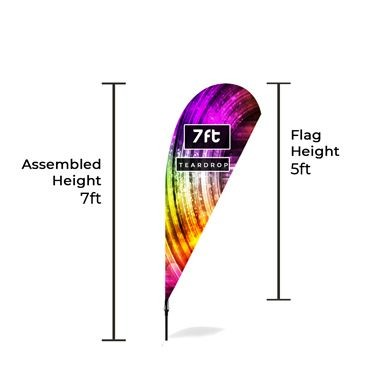 Medium Feather Banners Size Chart