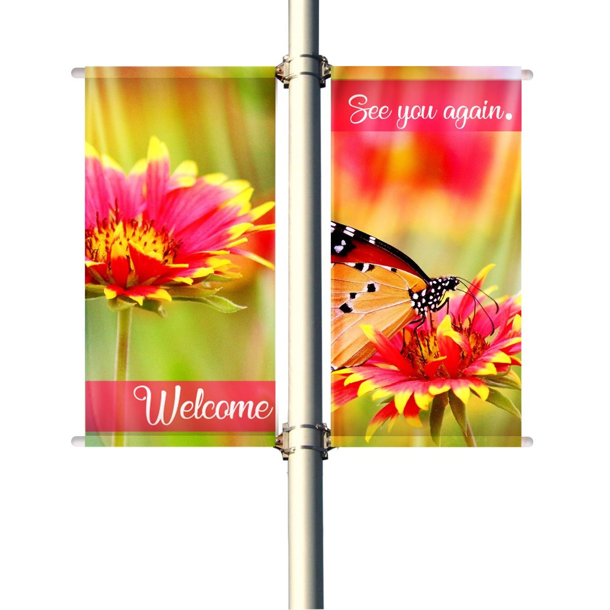 18 Single Set Pole Banners