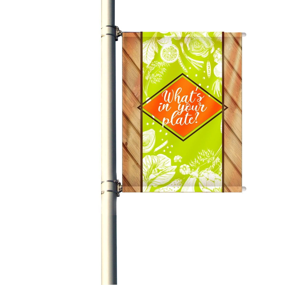 36 Inch Single Set Pole Banners