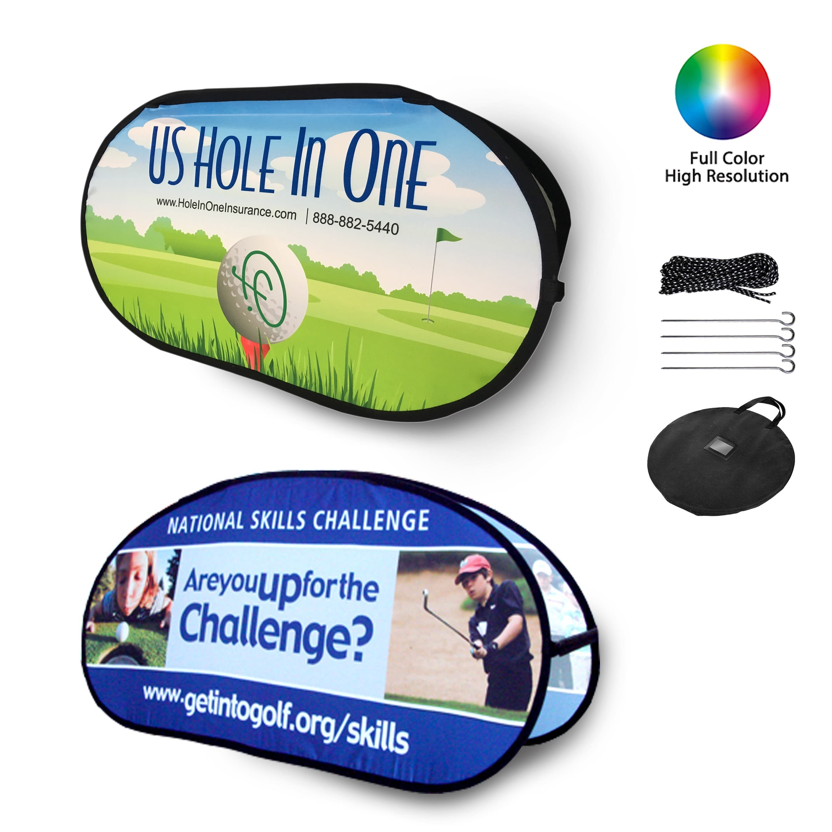 Double Sided Oval Pop Up A Frame Banners