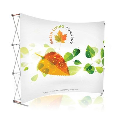P1G - 10ft Premium Magnetic Pop Up Display (Curve)