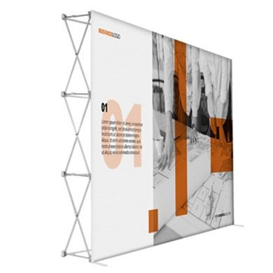 10 Foot Premium Magnetic Pop Up Displays with Straight Shape