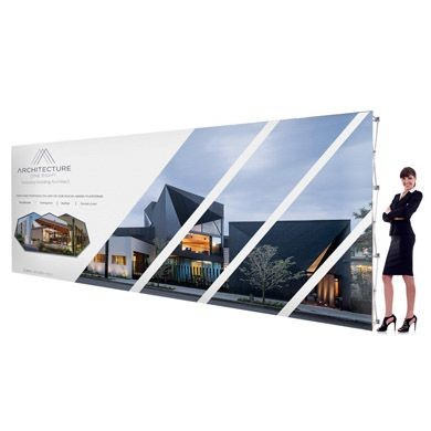 20 Foot Pop Up Displays with Straight Shape