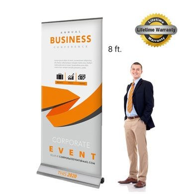 Graphic Interchangeable Flex Premium Retractable Banner Stands