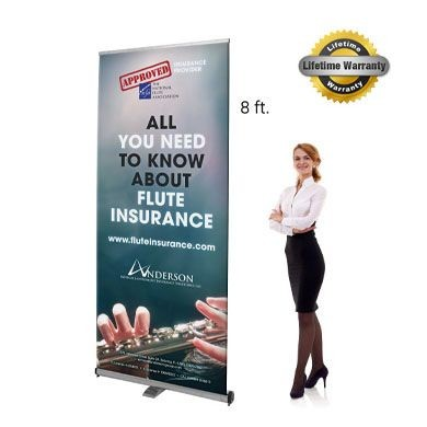 Graphic Interchangeable Flex Retractable Banner Stands