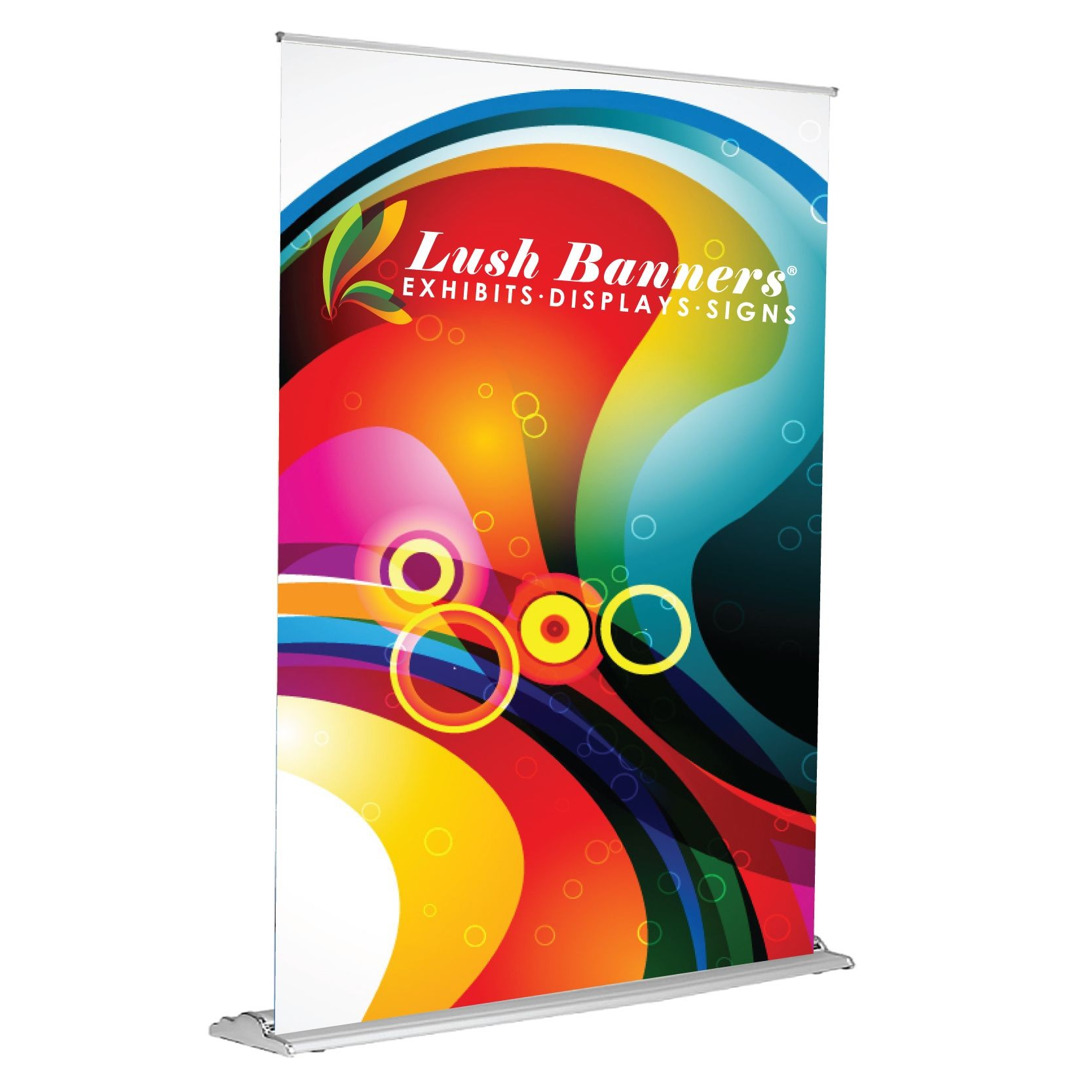 60 Inches Wide Silverstep Retractable Banner Stands