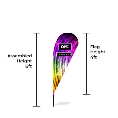 Small Feather Banners Size Chart