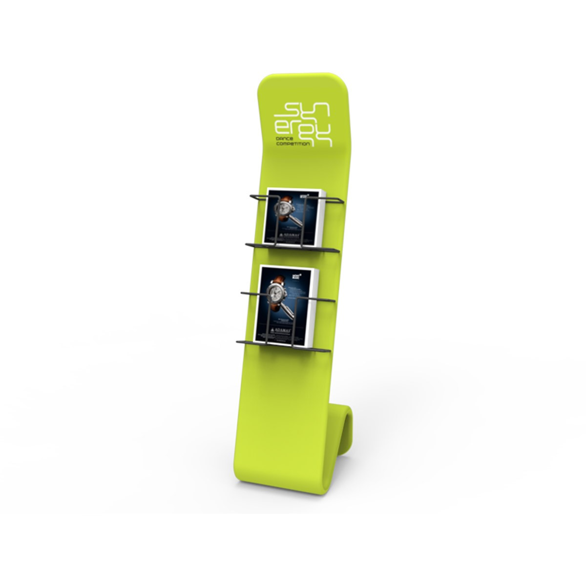 S-Shaped Literature Stand