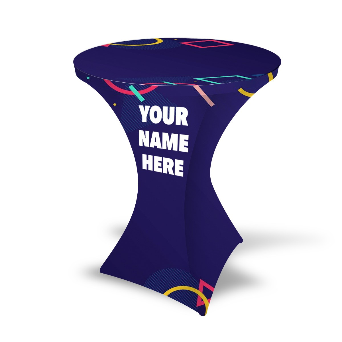 Custom Stretch Round Table Covers - Style 2
