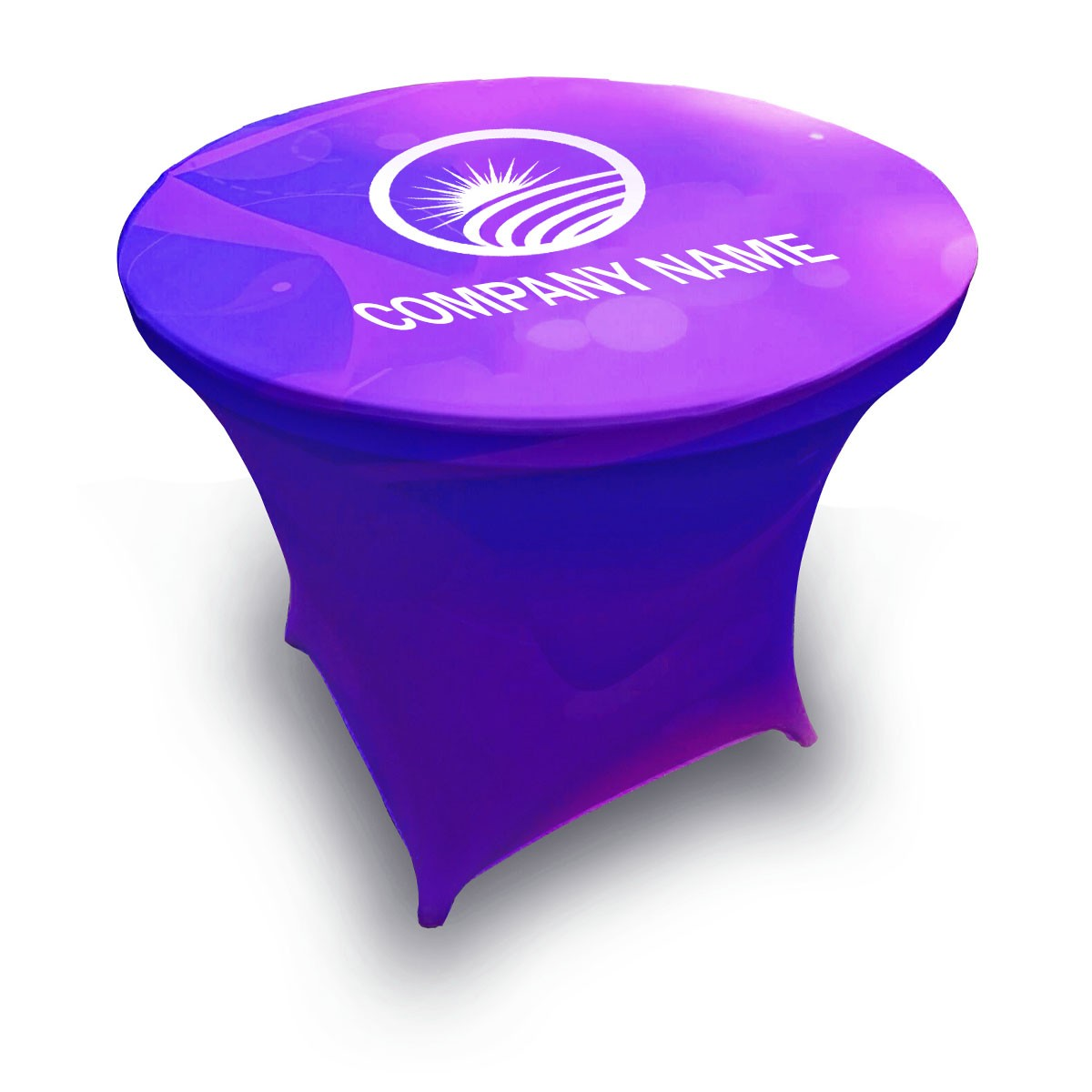 Custom Stretch Round Table Covers - Regular Height