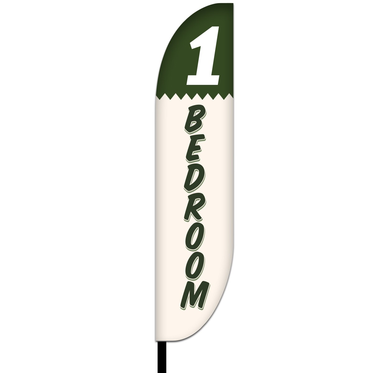 1 Bed Room Feather Flag Design