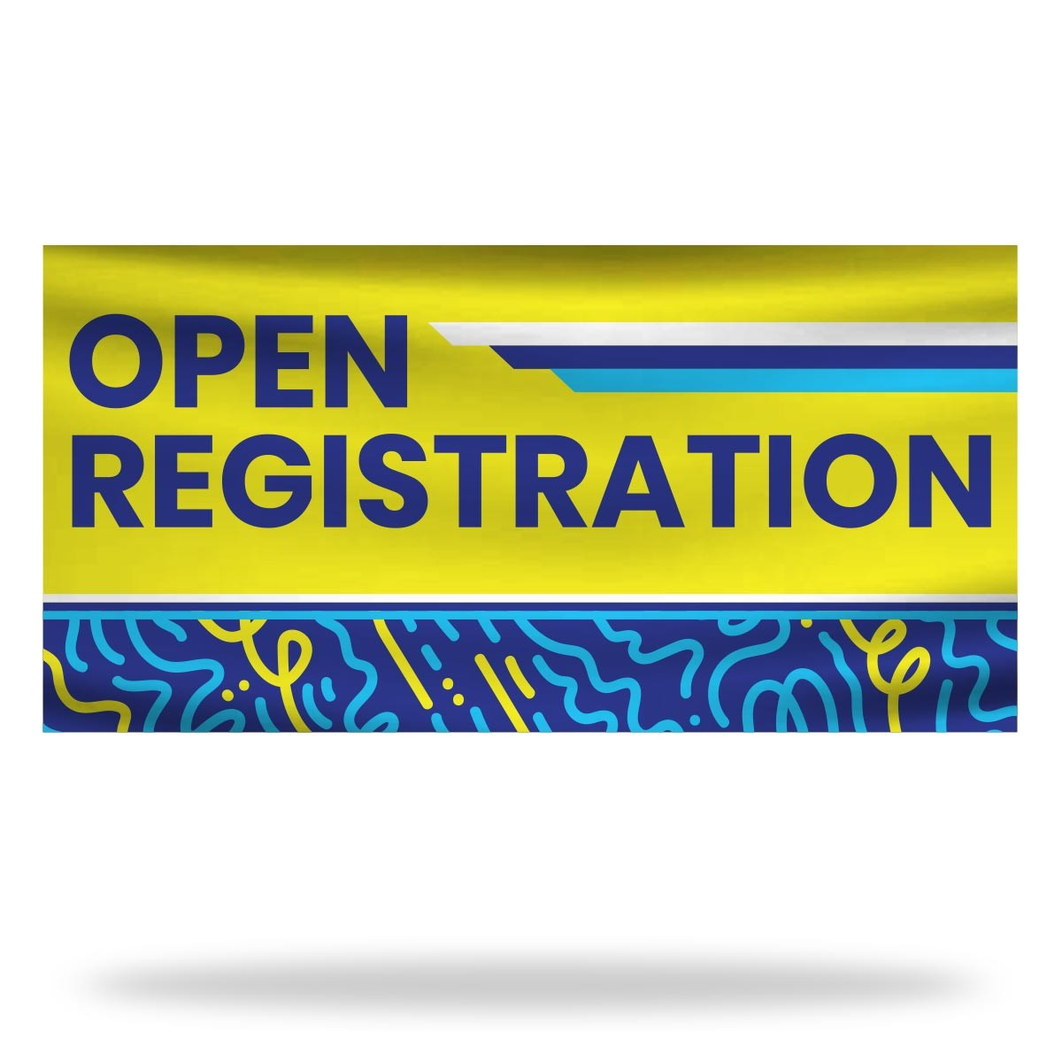 Open Registration Flags & Banners Design 01