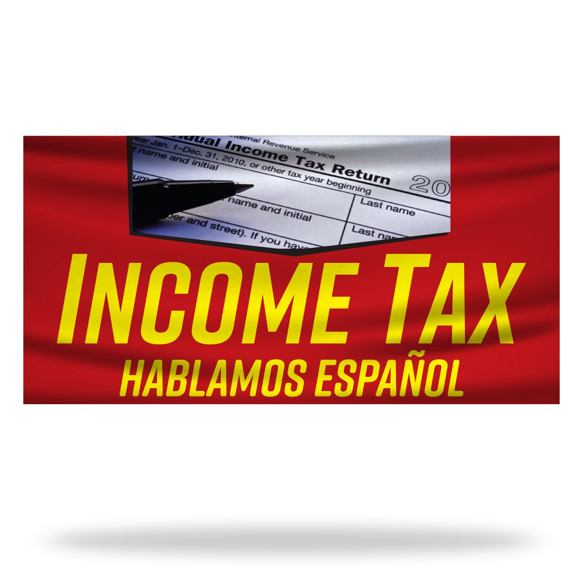 Income Tax Flags & Banners Design 05