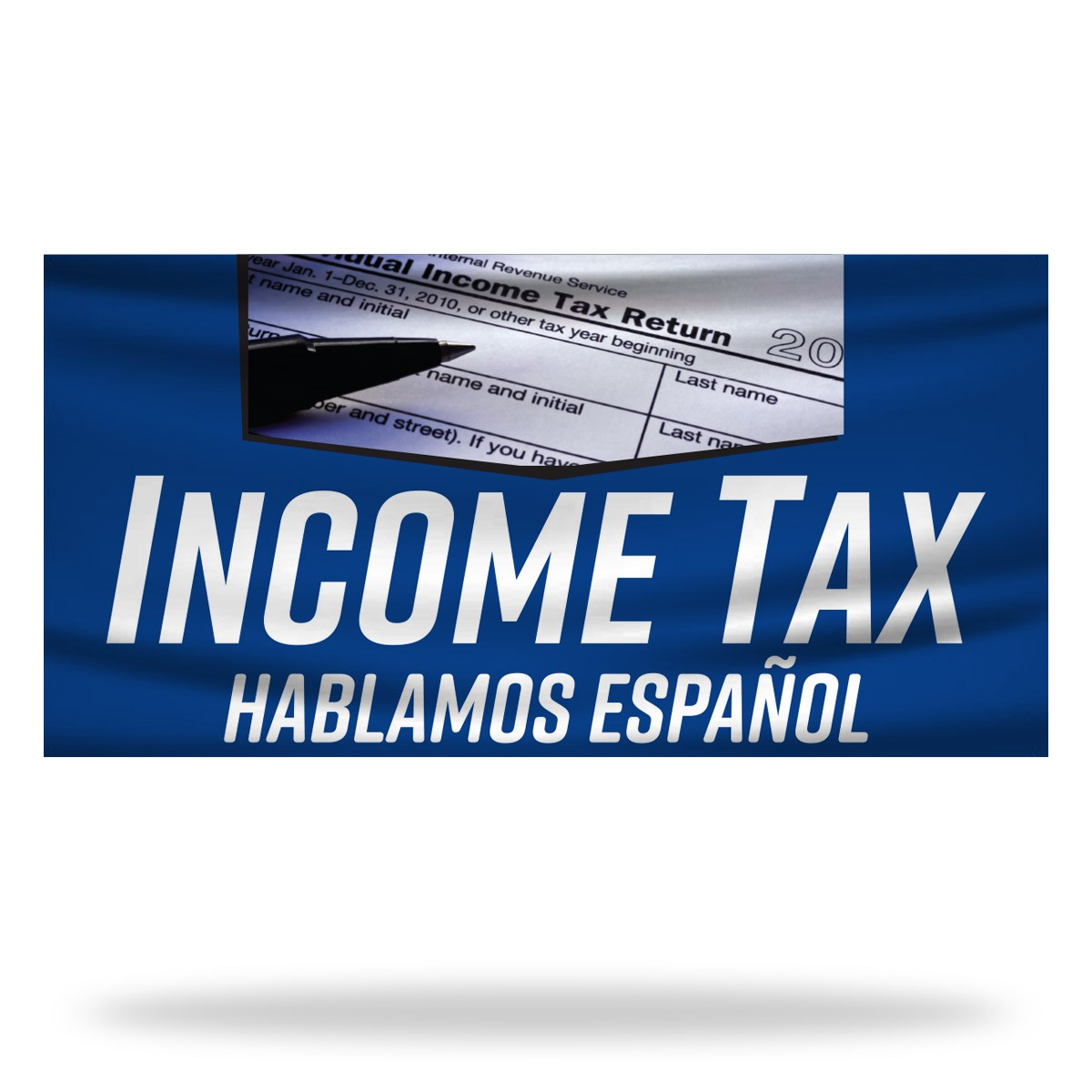 Income Tax Flags & Banners Design 06