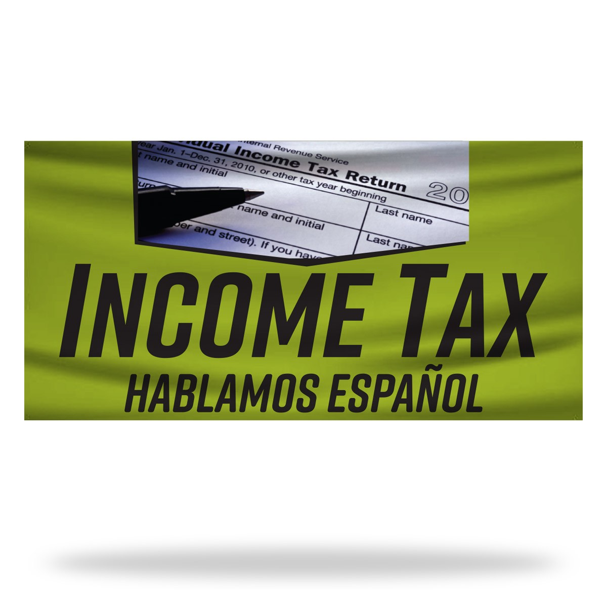 Income Tax Flags & Banners Design 02