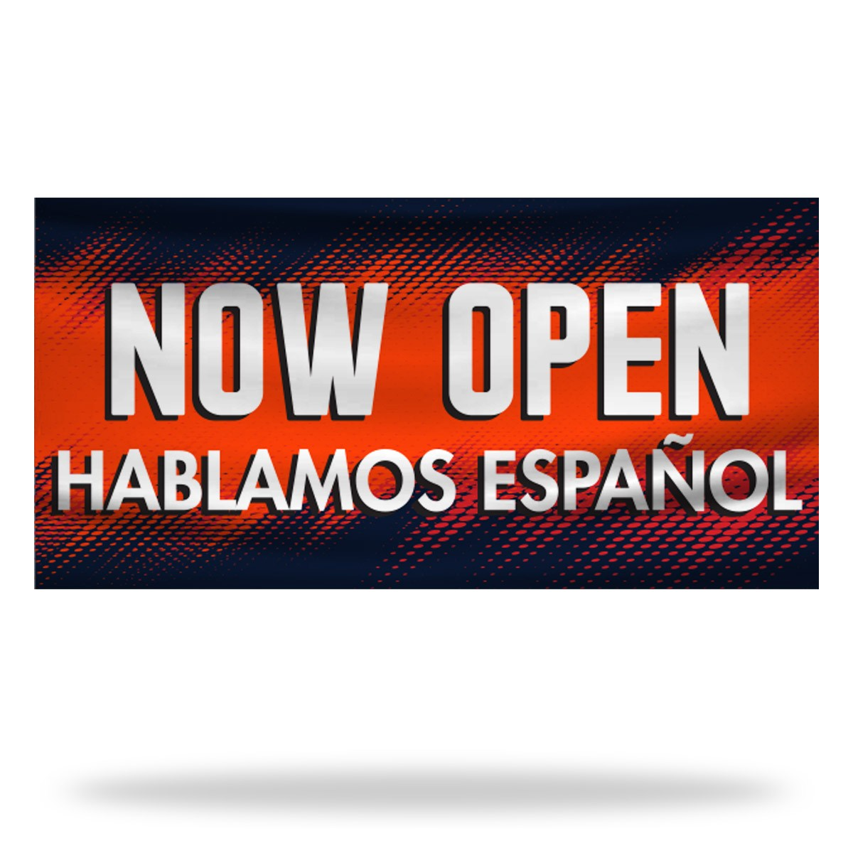 Spanish Now Open Flags & Banners Design 01
