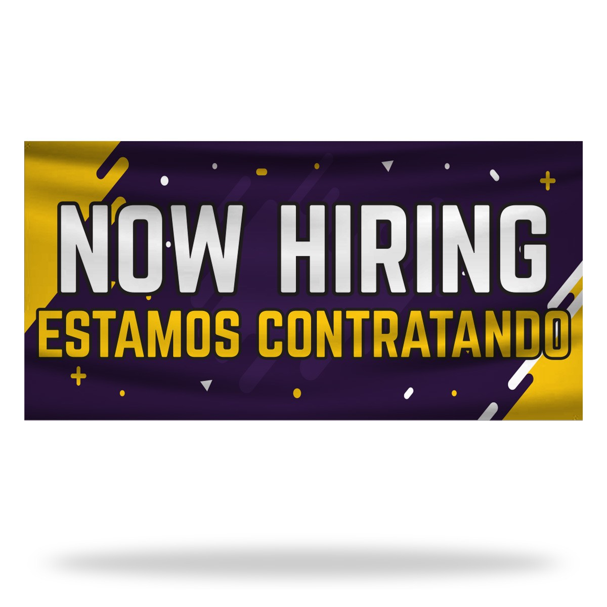 Spanish Now Hiring Flags & Banners Design
