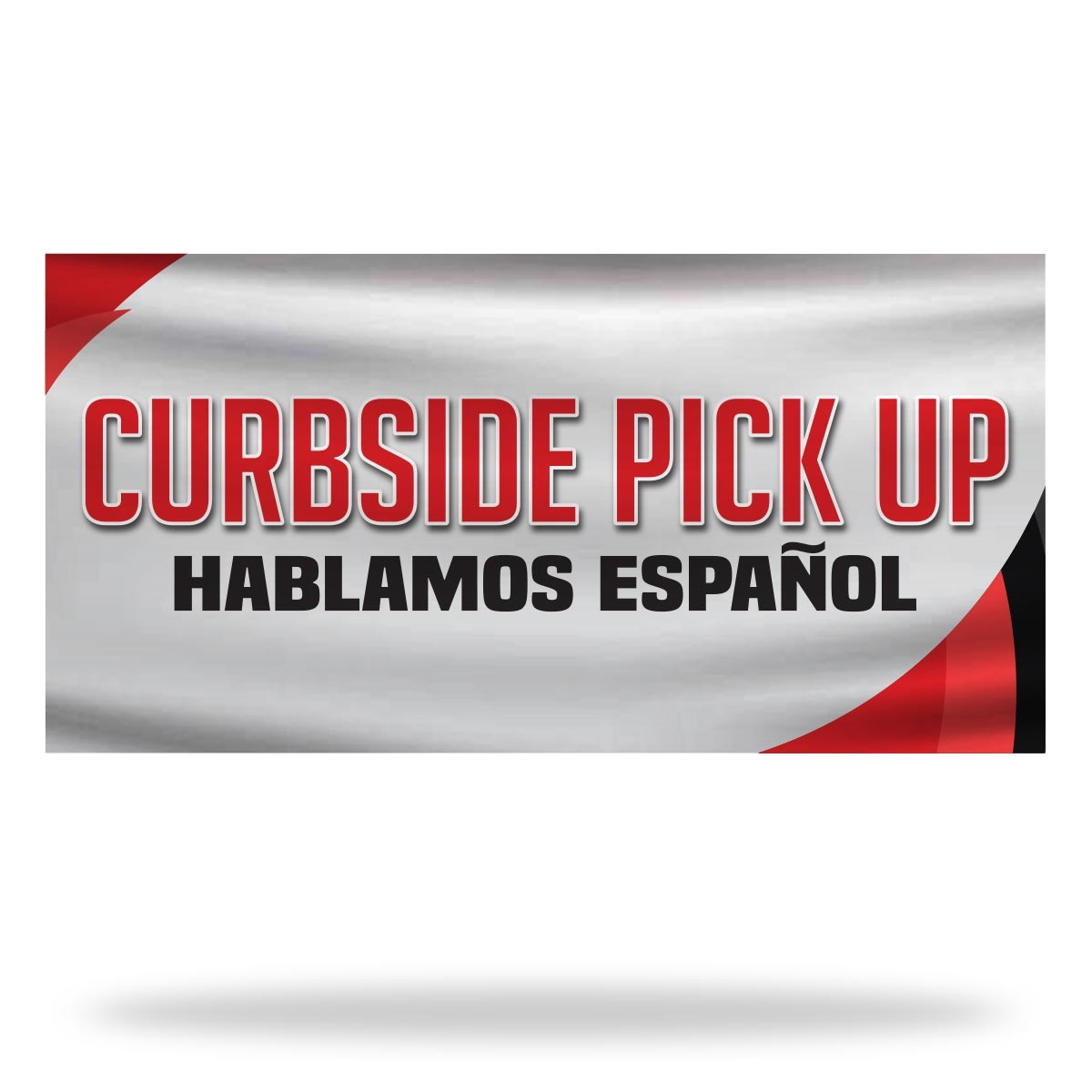 Spanish Curbside Pickup Flags & Banners Design
